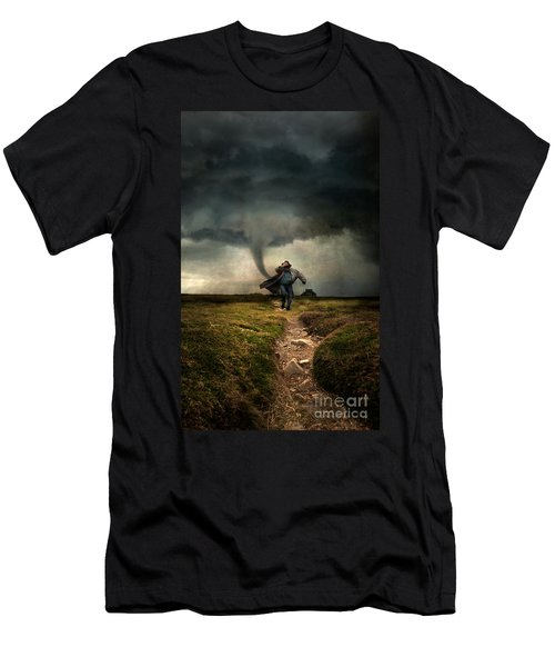 Tornado Men's T-Shirt (Slim Fit) by Jaroslaw Blaminsky