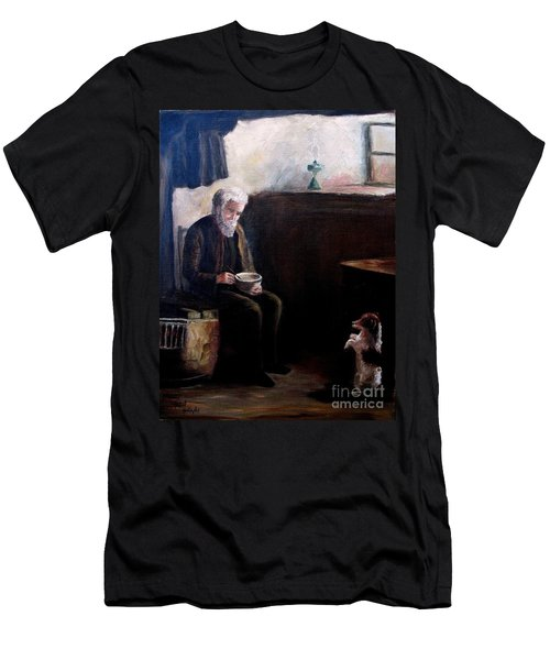 Men's T-Shirt (Slim Fit) featuring the painting Tough Times by Hazel Holland