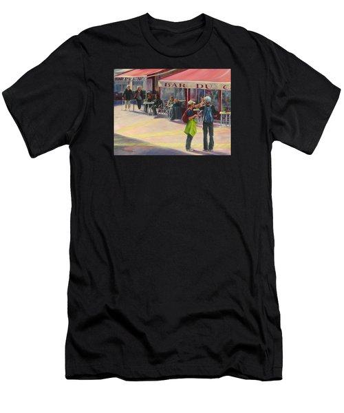 Tourists Men's T-Shirt (Slim Fit) by Connie Schaertl