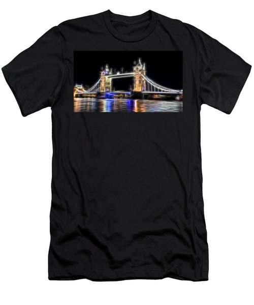 Tower Bridge Abstract Men's T-Shirt (Athletic Fit)