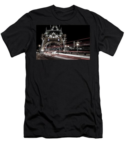 Tower Bridge London Men's T-Shirt (Slim Fit) by Martin Newman