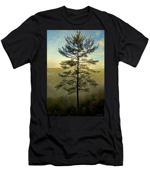 Men's T-Shirt (Slim Fit) featuring the photograph Towering Pine by Suzanne Stout