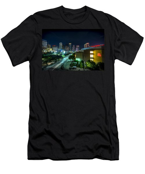 Toyota Center And Downtown Houston Men's T-Shirt (Athletic Fit)