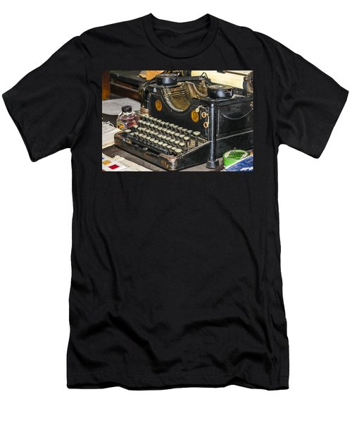 Men's T-Shirt (Athletic Fit) featuring the photograph Traditional Typewriter by Susan Leonard