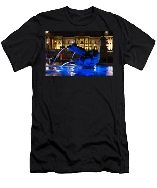 Trafalgar Square At Night Men's T-Shirt (Athletic Fit)
