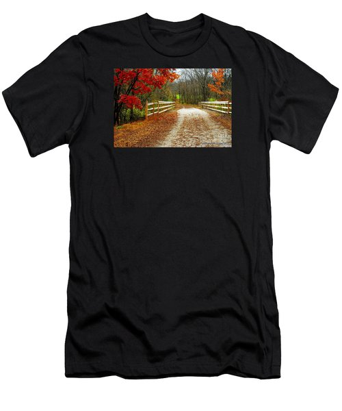 Trailing In Autumn Men's T-Shirt (Athletic Fit)