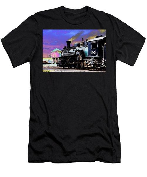 Train 489 Men's T-Shirt (Slim Fit) by Steven Bateson