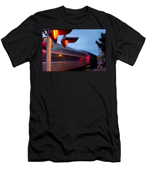 Train Crossing Road Men's T-Shirt (Athletic Fit)
