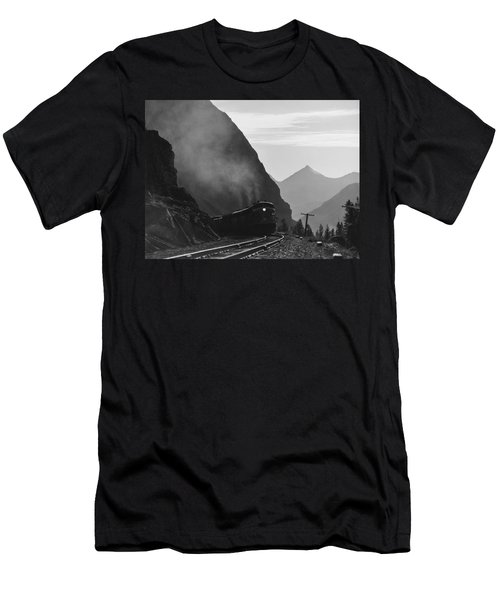 Train In Canadian Rockies Men's T-Shirt (Athletic Fit)