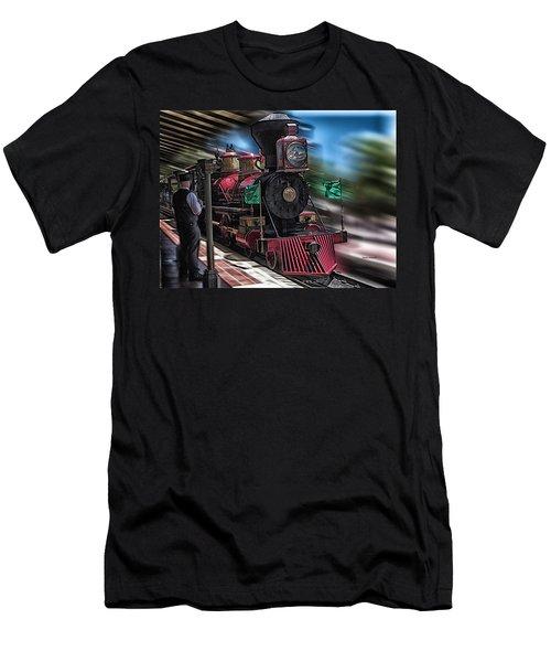 Train Ride Magic Kingdom Men's T-Shirt (Slim Fit) by Thomas Woolworth