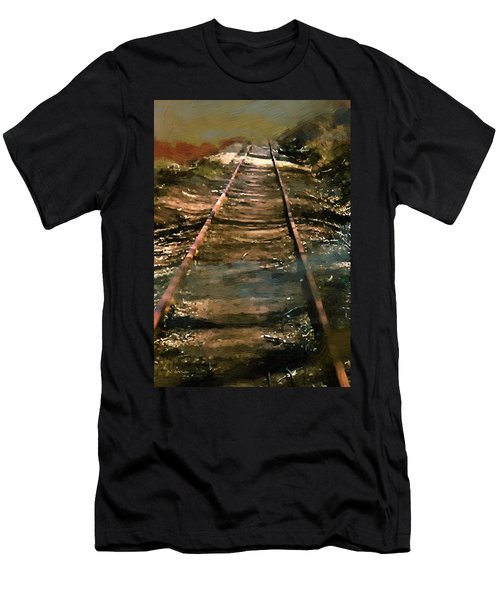 Train Track To Hell Men's T-Shirt (Athletic Fit)
