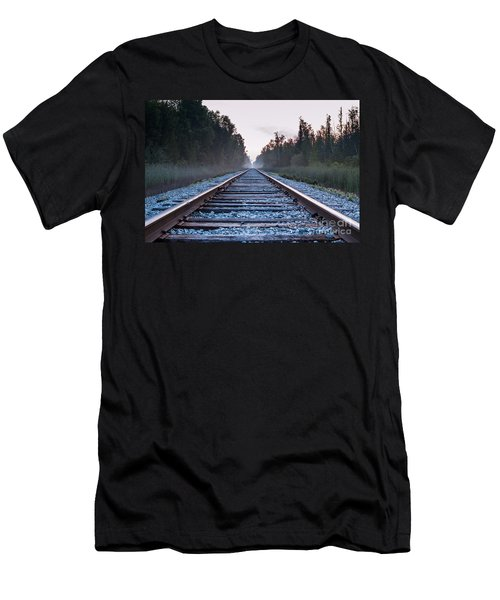 Men's T-Shirt (Slim Fit) featuring the photograph Train Tracks To Nowhere by Patrick Shupert