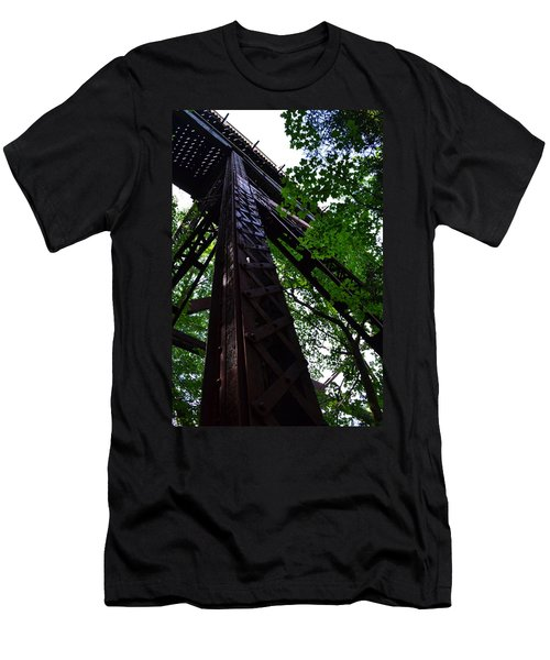 Train Trestle In The Woods Men's T-Shirt (Athletic Fit)
