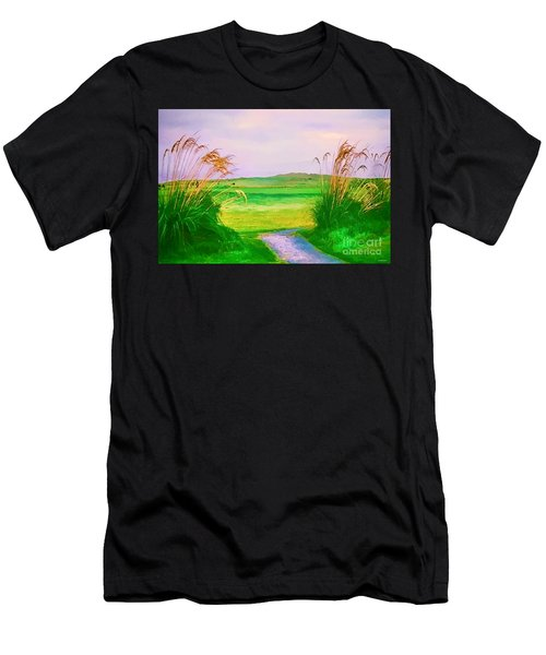 Tralee Ireland Water Color Effect Men's T-Shirt (Athletic Fit)