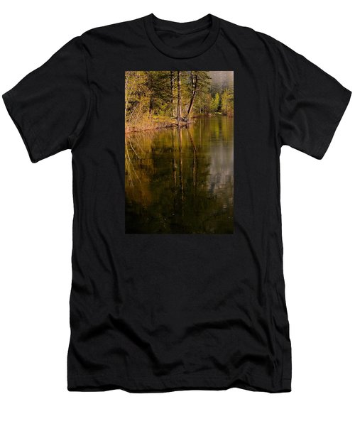 Tranquil Merced River Men's T-Shirt (Slim Fit) by Duncan Selby