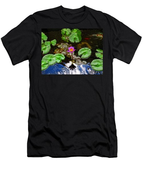 Tranquility - Lotus Flower Koi Pond By Sharon Cummings Men's T-Shirt (Athletic Fit)