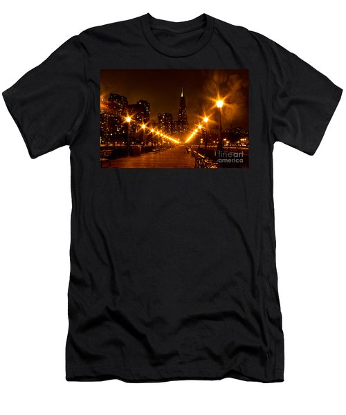Transamerica Pyramid From Pier Men's T-Shirt (Athletic Fit)