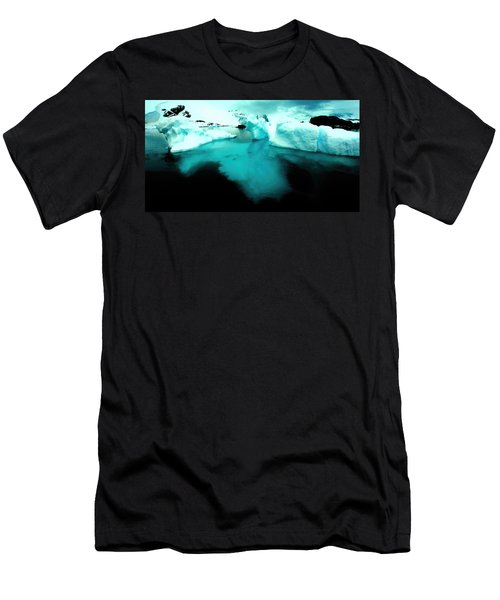 Men's T-Shirt (Slim Fit) featuring the photograph Transparent Iceberg by Amanda Stadther