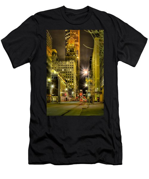 Travis And Lamar Street At Night Men's T-Shirt (Athletic Fit)