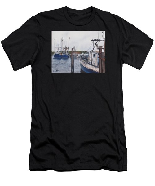 Trawlers At Gosman's Dock Montauk Men's T-Shirt (Athletic Fit)