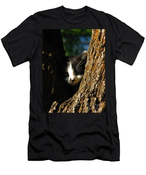 Tree Cat Men's T-Shirt (Athletic Fit)