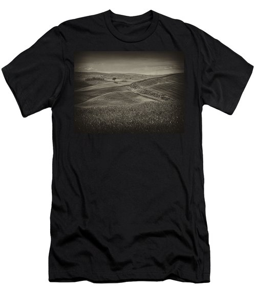 Men's T-Shirt (Slim Fit) featuring the photograph Tree In Sienna by Hugh Smith