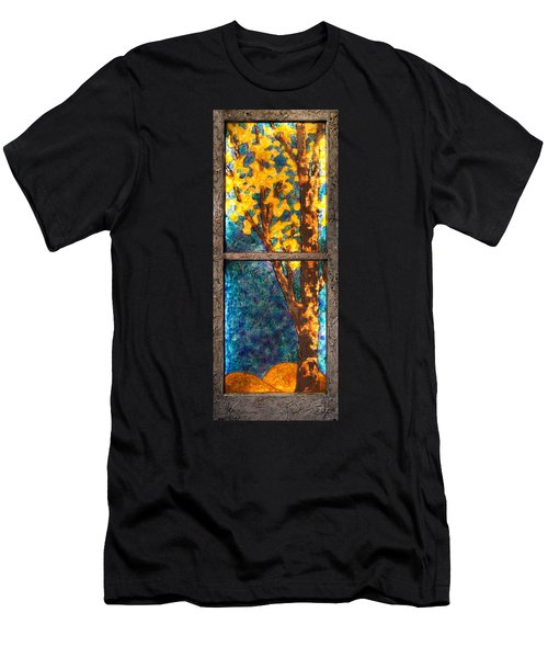 Tree Inside A Window Men's T-Shirt (Athletic Fit)