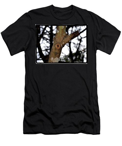 Men's T-Shirt (Slim Fit) featuring the photograph Tree Observation by Tara Potts