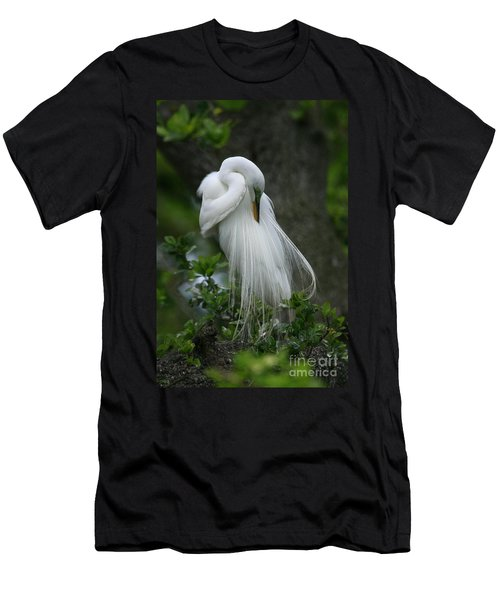 Men's T-Shirt (Slim Fit) featuring the photograph Tree Of Plumes by John F Tsumas