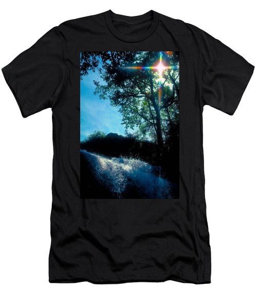 Tree Planted By Streams Of Water Men's T-Shirt (Slim Fit) by Marie Hicks