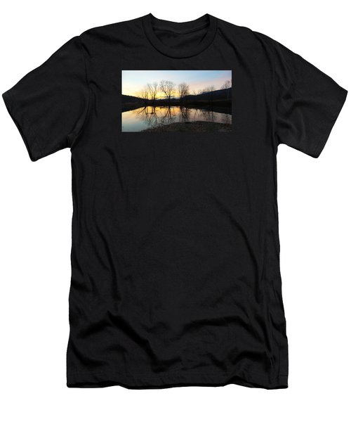Tree Reflections Landscape Men's T-Shirt (Athletic Fit)