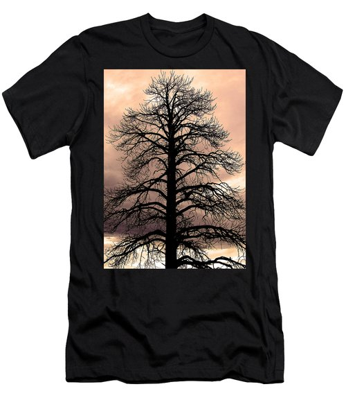 Tree Silhouette Men's T-Shirt (Slim Fit) by Laurel Powell