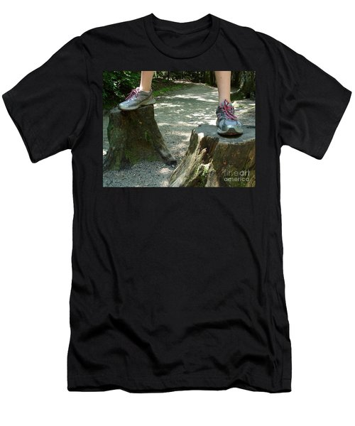 Tree Stump Stilts Men's T-Shirt (Athletic Fit)