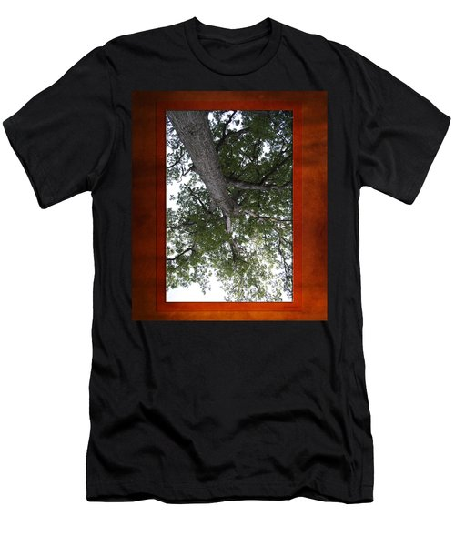 Tree View Textured 01 Men's T-Shirt (Athletic Fit)