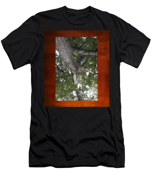 Tree View Textured 02 Men's T-Shirt (Athletic Fit)