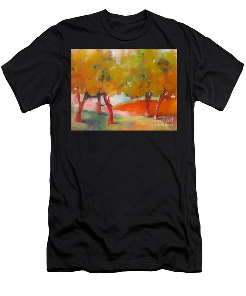 Men's T-Shirt (Athletic Fit) featuring the painting Trees #5 by Michelle Abrams