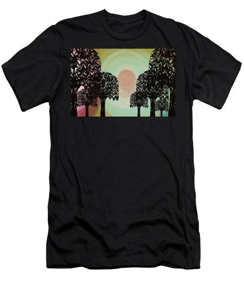 Trees Of Light Men's T-Shirt (Slim Fit) by Christine Fournier