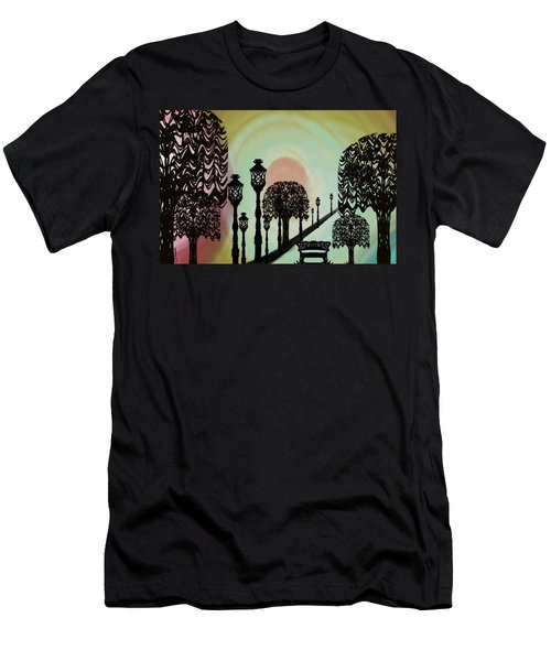 Trees Of Lights Men's T-Shirt (Slim Fit) by Christine Fournier