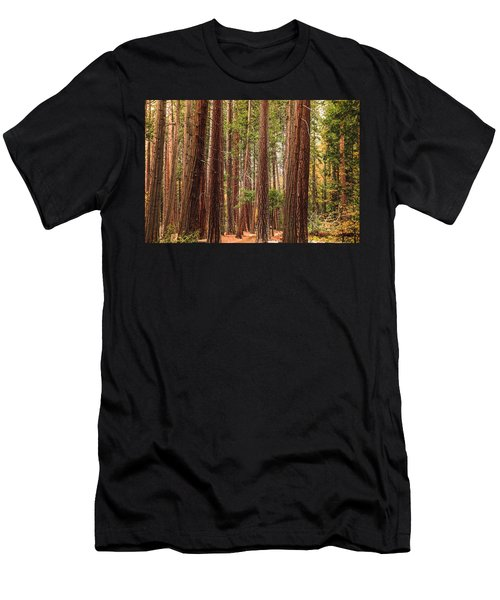 Trees Of Yosemite Men's T-Shirt (Slim Fit) by Muhie Kanawati