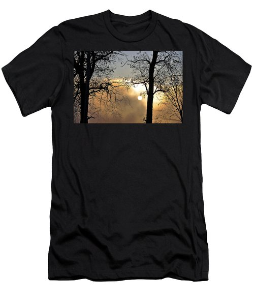 Trees On Misty Morning Men's T-Shirt (Athletic Fit)
