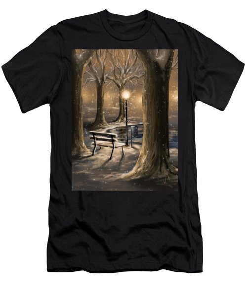 Trees Men's T-Shirt (Slim Fit) by Veronica Minozzi