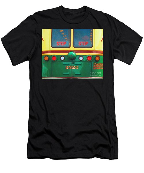 Trolley Car - Digital Art Men's T-Shirt (Athletic Fit)