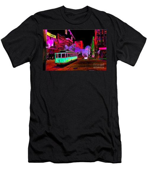 Trolley Night Digital  Men's T-Shirt (Athletic Fit)