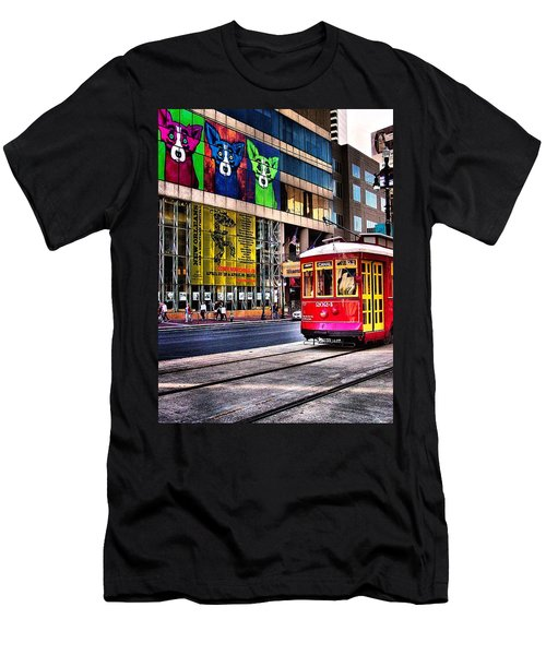 Men's T-Shirt (Slim Fit) featuring the photograph Trolley Time by Robert McCubbin