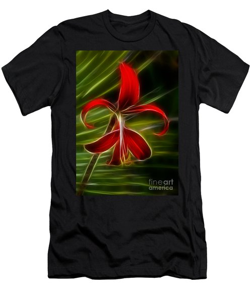 Tropical Abstract Men's T-Shirt (Slim Fit) by Vivian Christopher