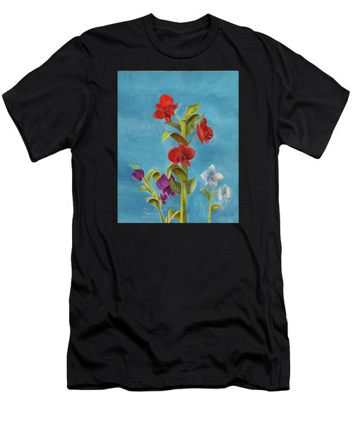 Tropical Flower Men's T-Shirt (Athletic Fit)