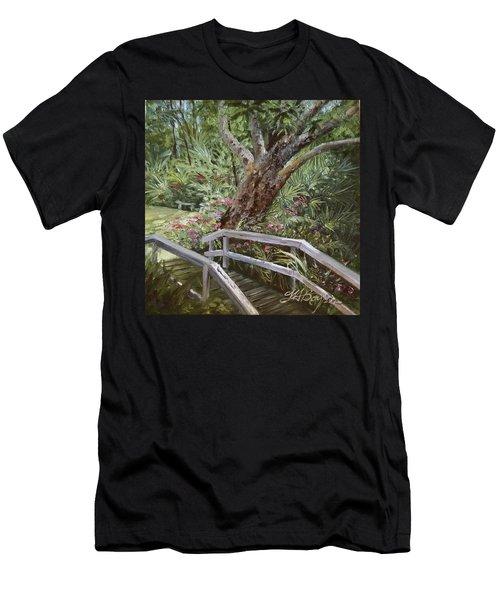 Tropical Garden Men's T-Shirt (Athletic Fit)