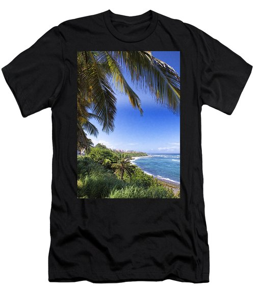 Men's T-Shirt (Slim Fit) featuring the photograph Tropical Holiday by Daniel Sheldon
