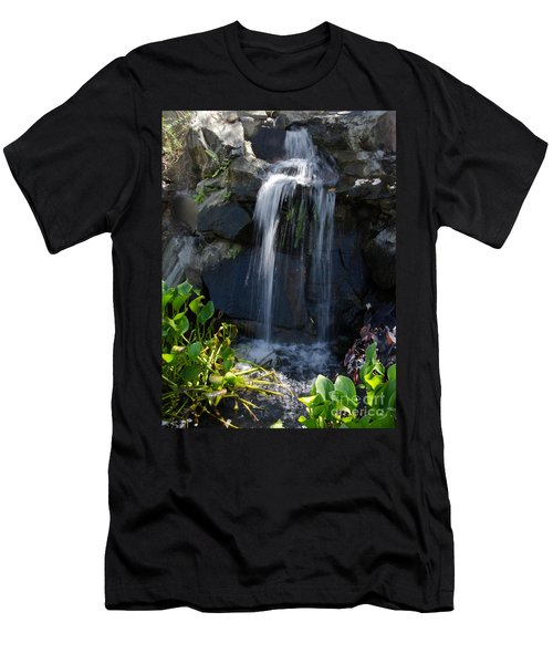 Tropical Waterfall  Men's T-Shirt (Athletic Fit)
