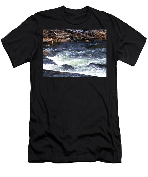 Men's T-Shirt (Slim Fit) featuring the photograph Trout River by Jackie Carpenter